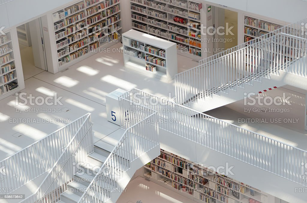 The Stuttgart Public Library, stock photo