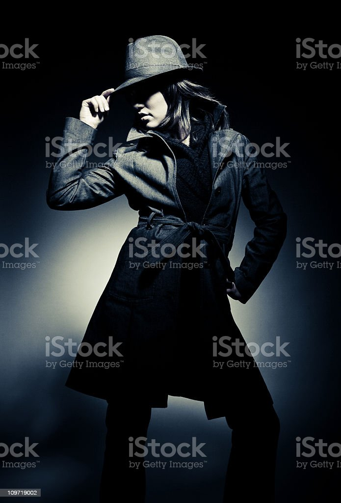 the stylish gangster stock photo