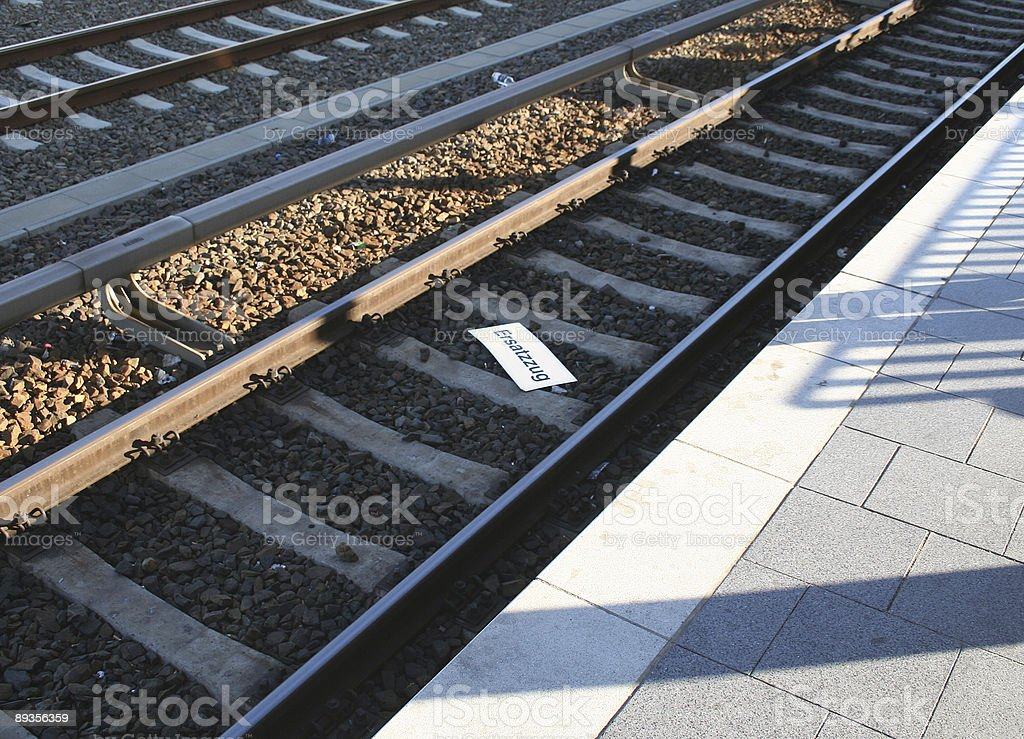 The substitution train is cancelled stock photo