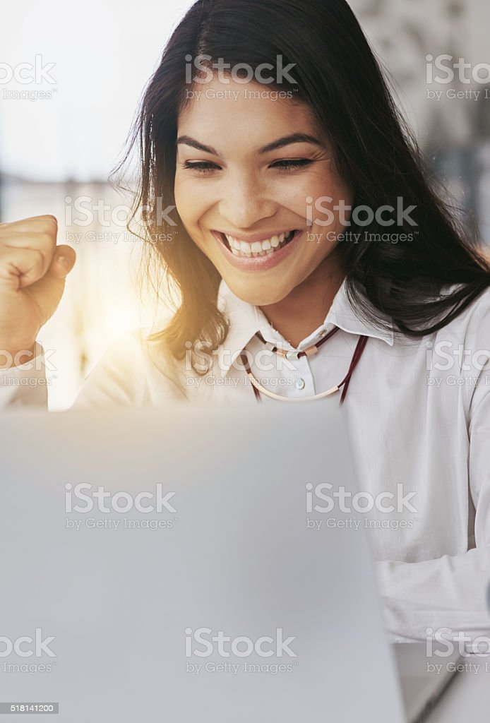 The success just keep coming! stock photo