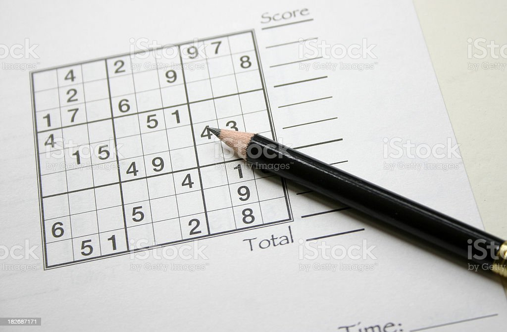 The Sudoku Game stock photo