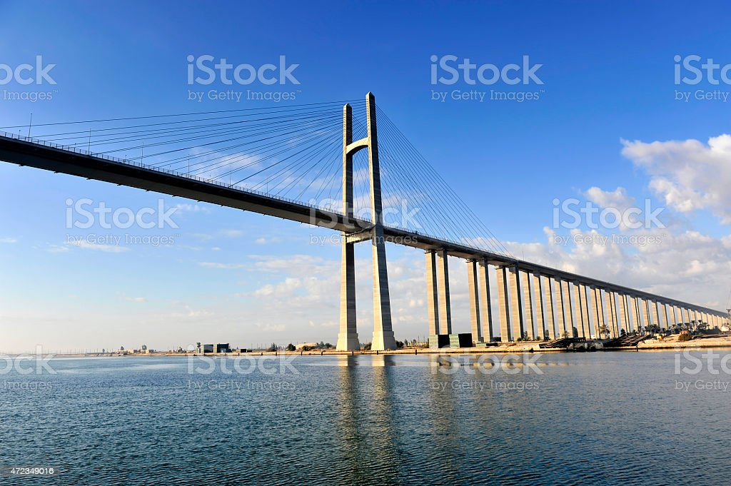 The Suez Canal Bridge, Egypt stock photo