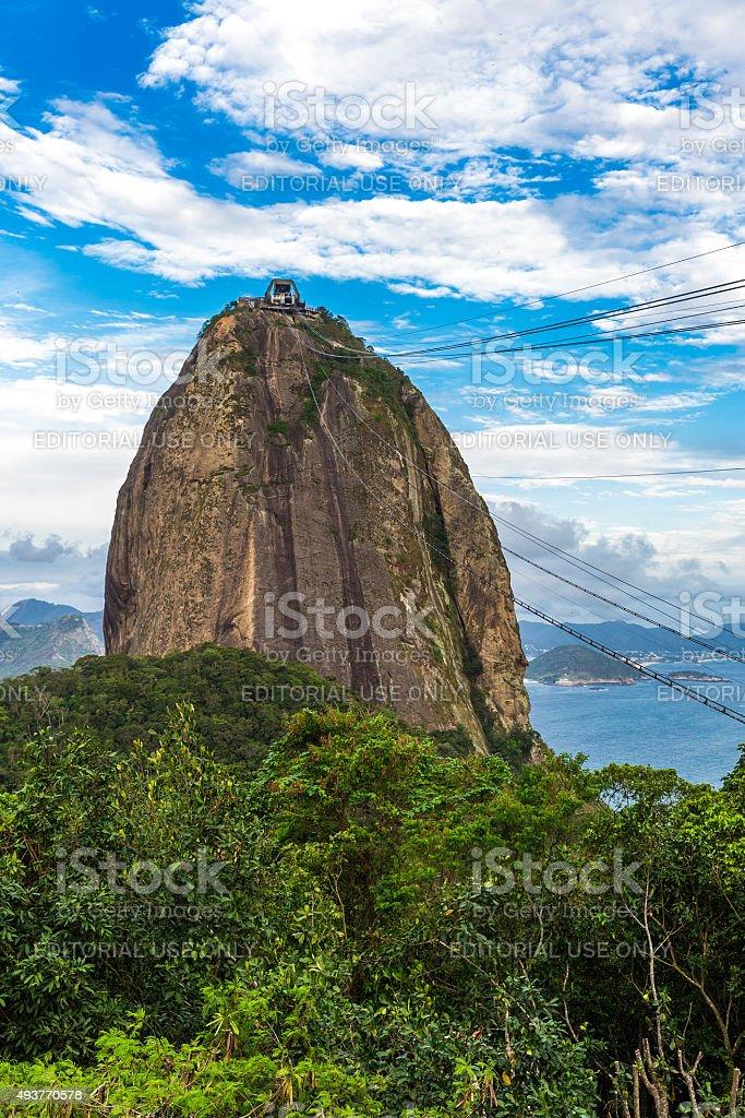 The Sugarloaf Mountain in Rio de Janeiro, Brazil stock photo