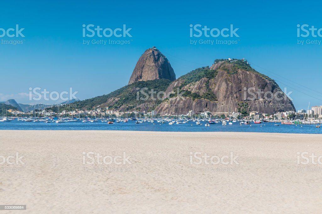 The sugarloaf mountains in Rio Brazil stock photo