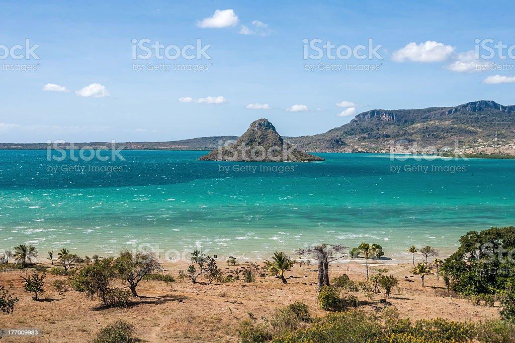 The sugarloaf of Antsiranana bay stock photo