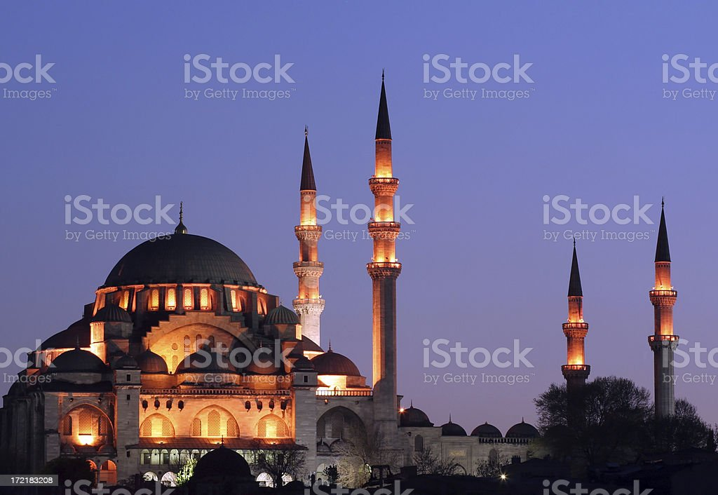 The Suleiman's Mosque - 3 royalty-free stock photo