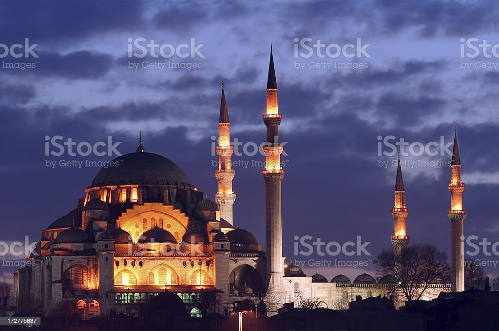 The Suleiman's Mosque stock photo