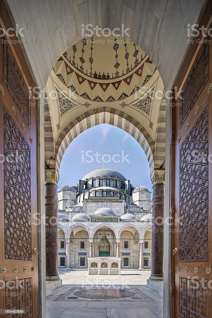 The Suleymaniye Mosque, Istanbul, Turkey royalty-free stock photo
