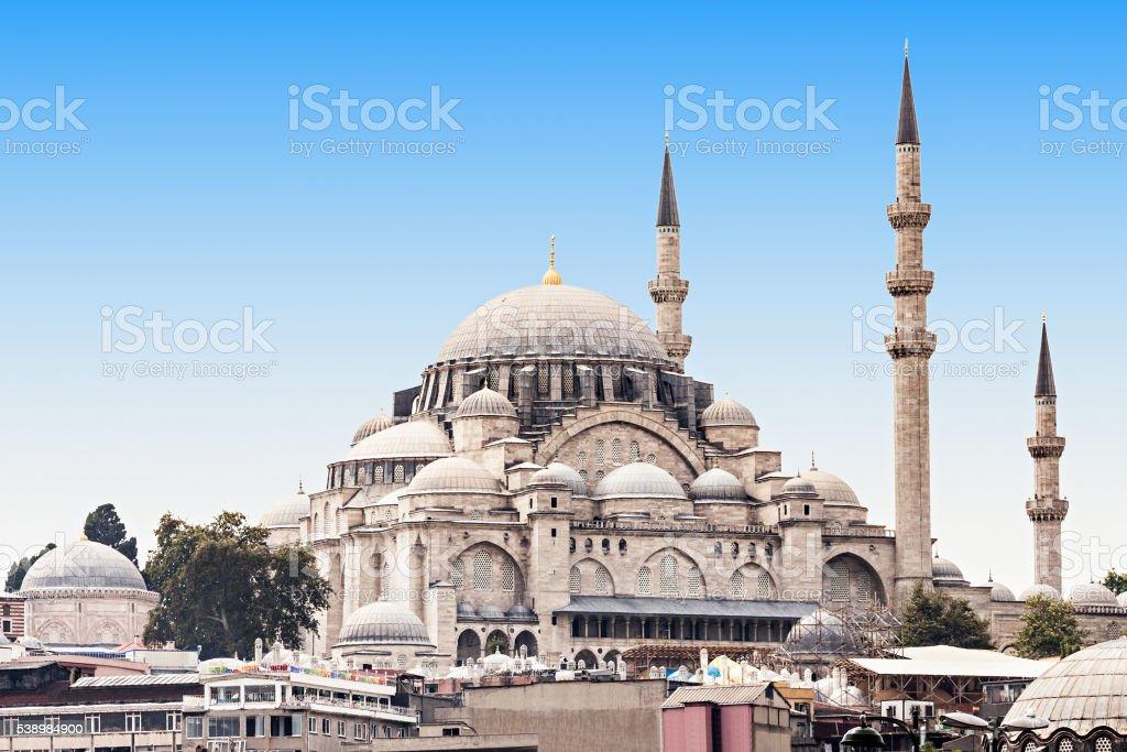 The Suleymaniye Mosque stock photo