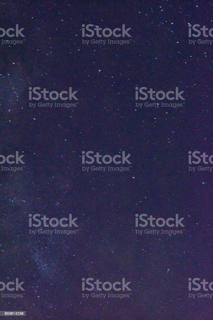 The summer Milky Way rises over Reggio Calabria Italy stock photo