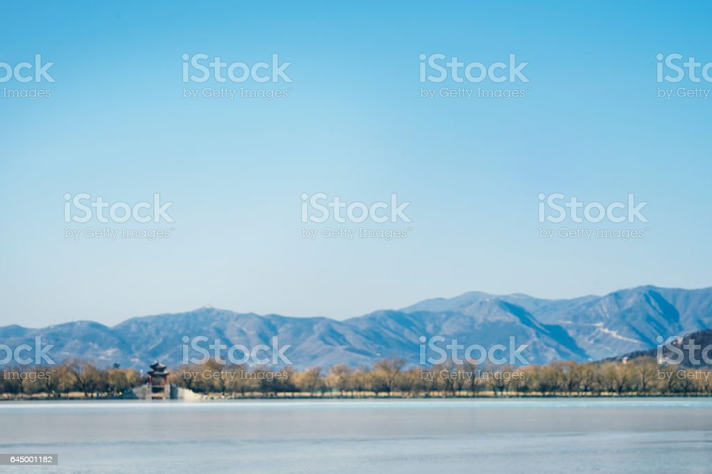 The Summer Palace with clear sky stock photo