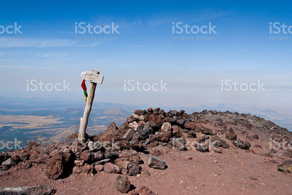 The Summit of Humphreys Peak stock photo