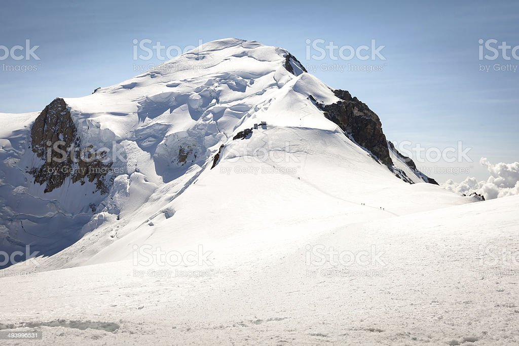The summit of Mont Blanc stock photo
