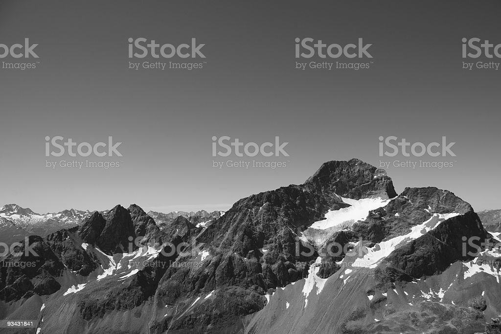 The Summit of Piz Julier, Rhaetian Alps, Graubünden Canton, Switzerland stock photo