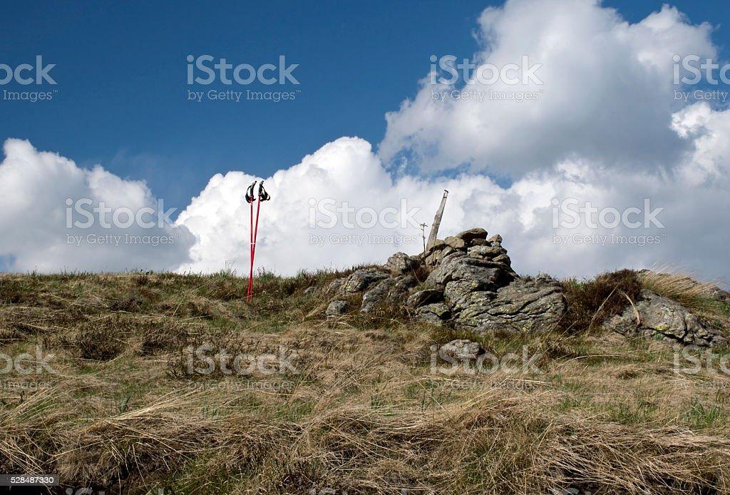 la vetta della montagna stock photo