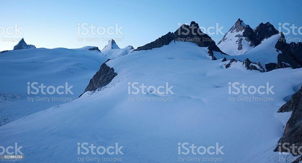 The summit 'T?te Blanche' stock photo