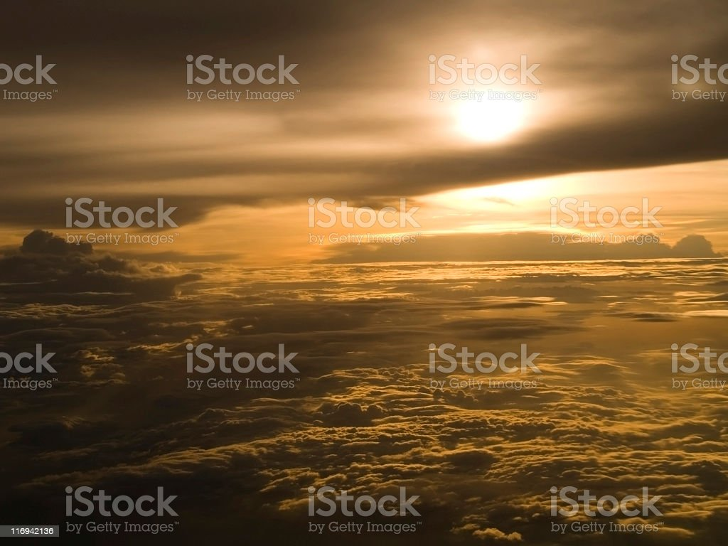 The Sun above gold cloud royalty-free stock photo