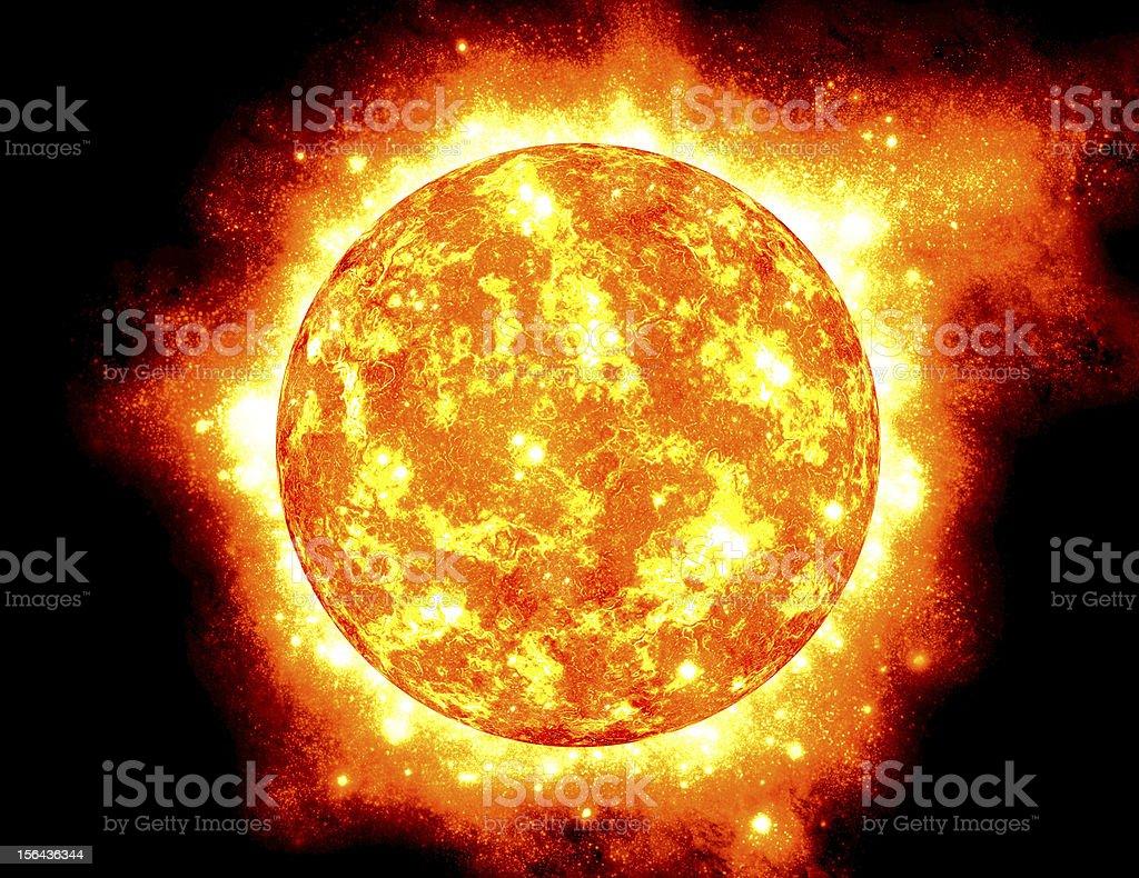 The Sun, half way through it's main-sequence evolution. royalty-free stock photo