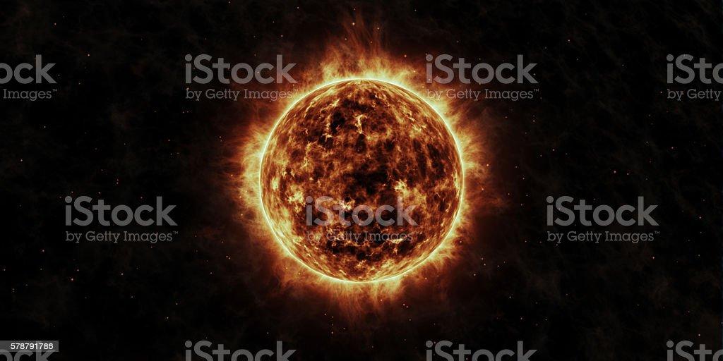 The Sun stock photo
