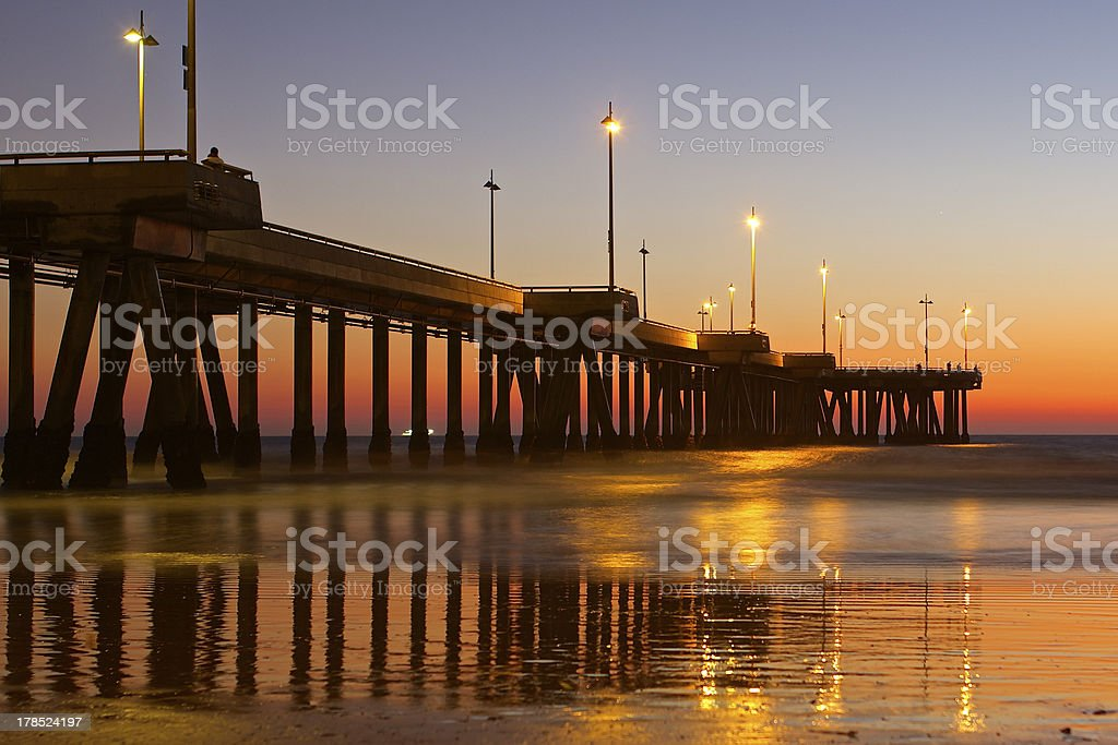The sun sets on another beautiful day in southern California stock photo