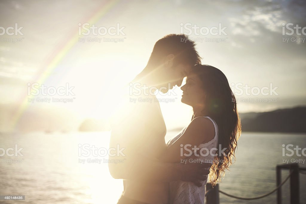 The sun will never go down on our love stock photo