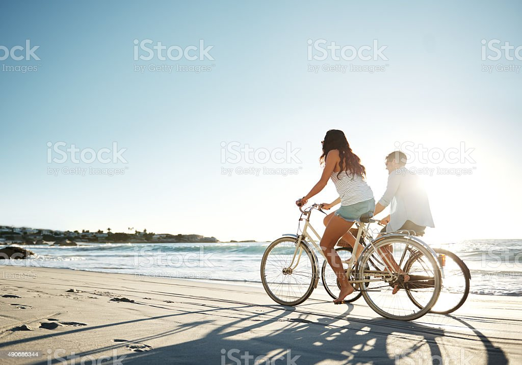 The sun will never set on their love stock photo