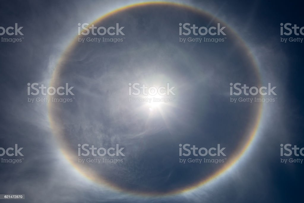 the sun with rays stock photo