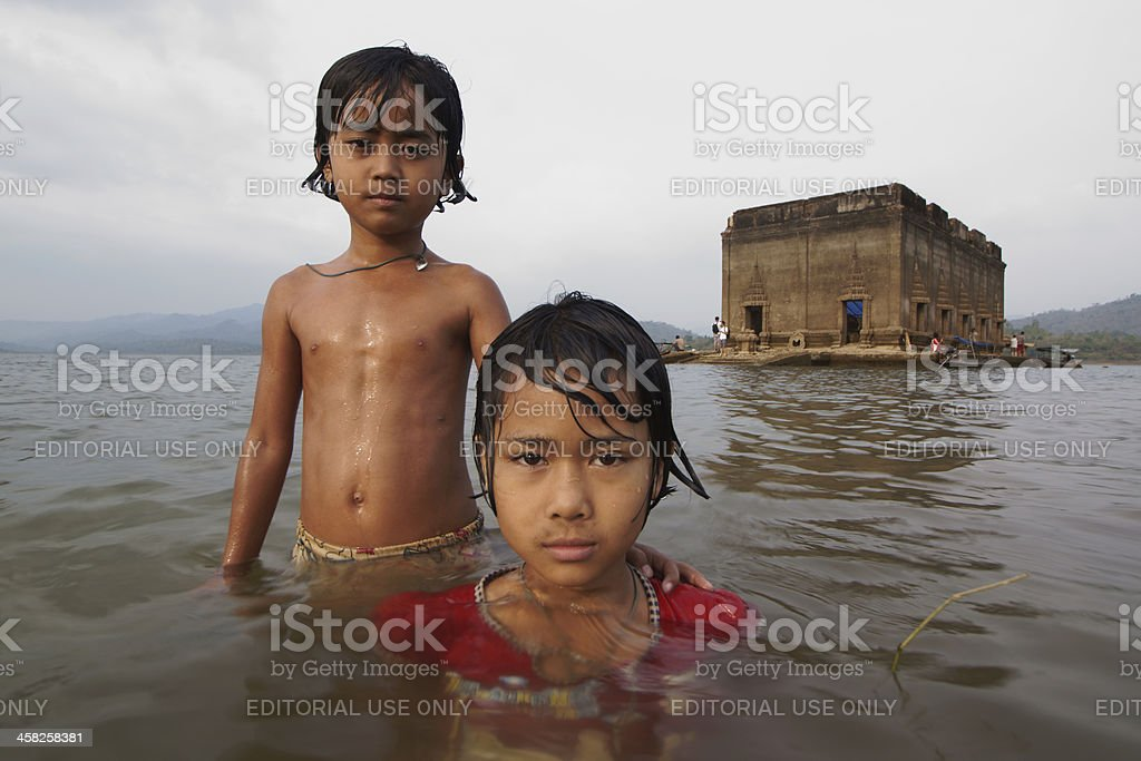 The Sunken Temple royalty-free stock photo
