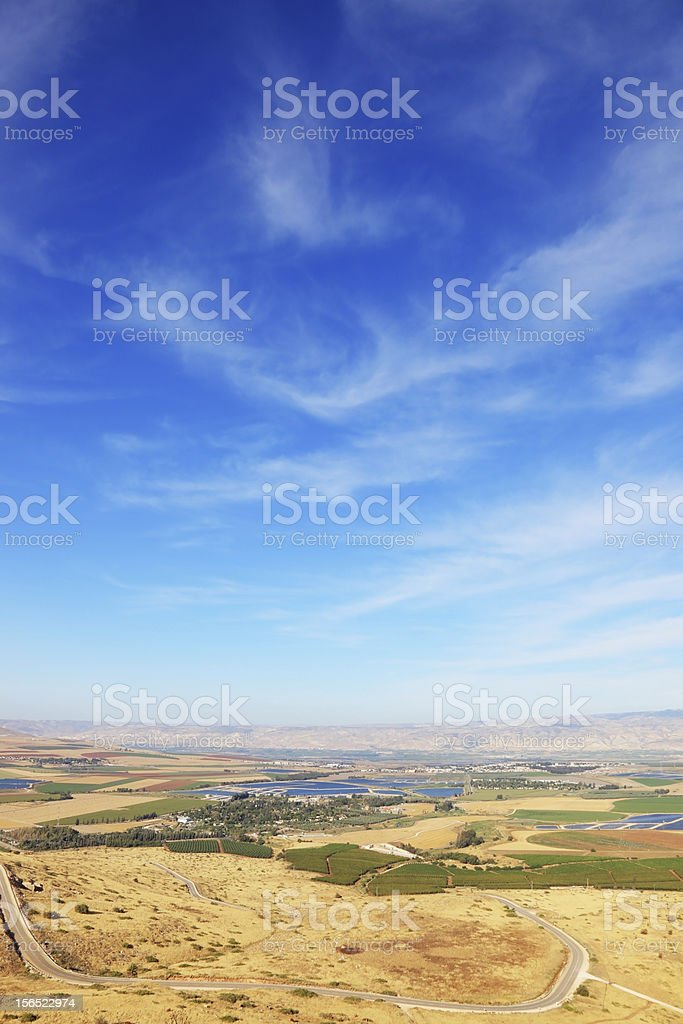 The sunset in  Isreel Valley royalty-free stock photo