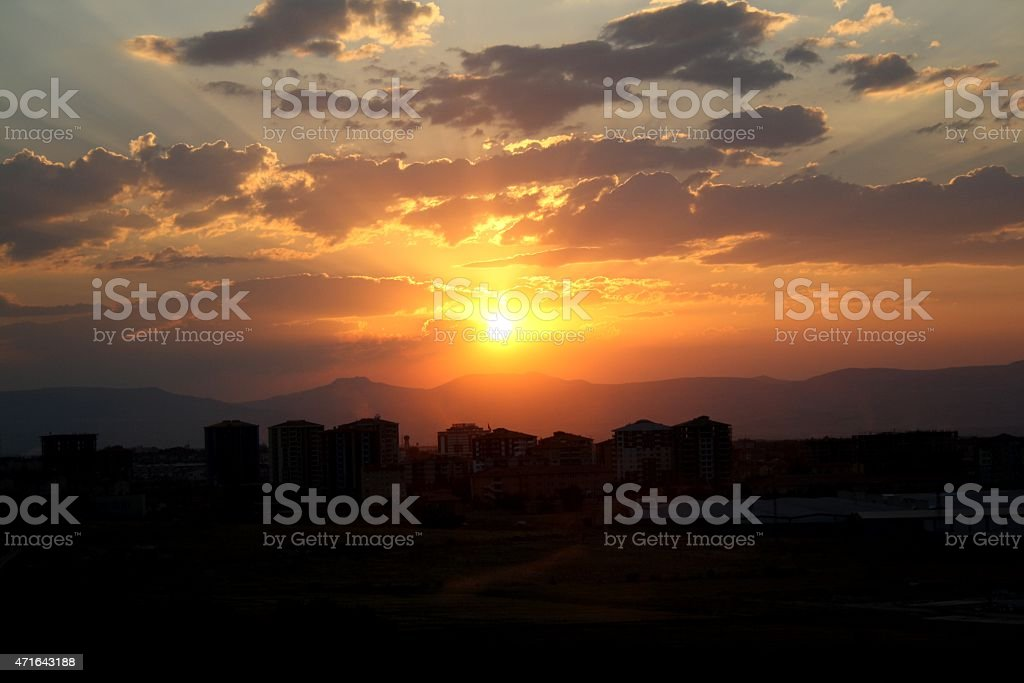 The Sunset stock photo