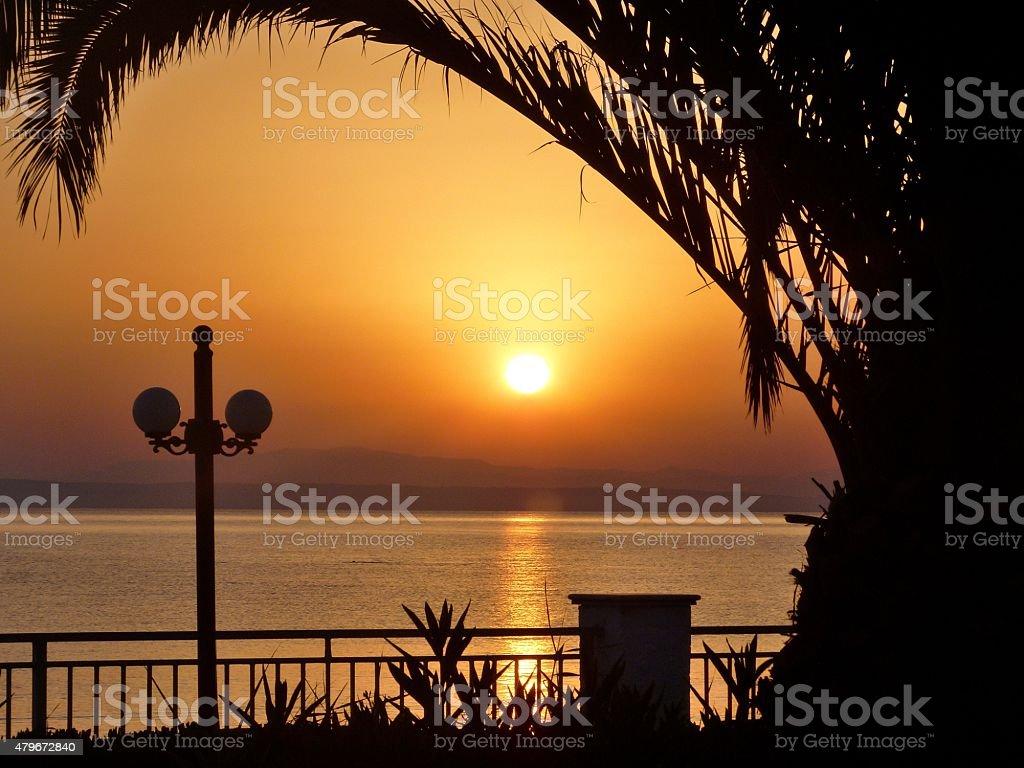 Le coucher de soleil. photo libre de droits
