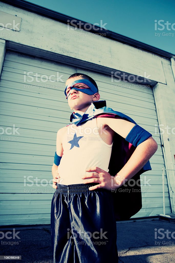 The Super Kid royalty-free stock photo