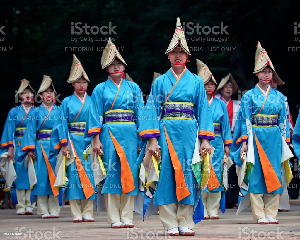 The Super Yosakoi Festival 2016 stock photo