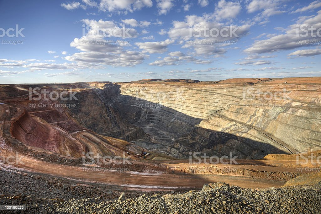 The Superpit stock photo