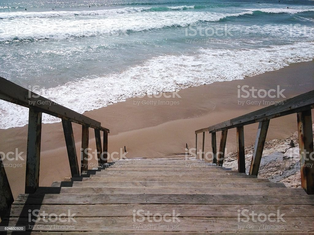 the surf stairs stock photo