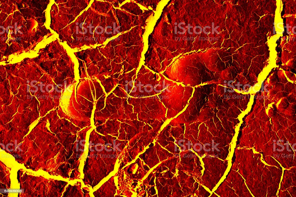 the surface of the lava. background vector art illustration