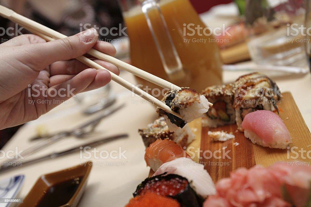 The sushi royalty-free stock photo