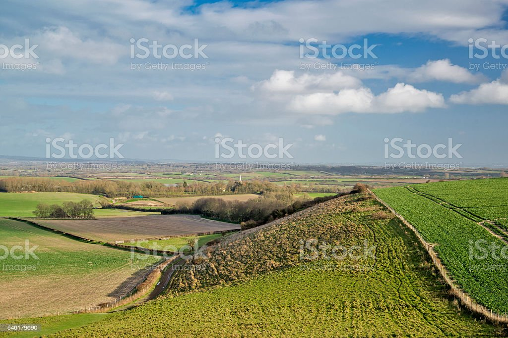 The Sussex weald at Berwick stock photo