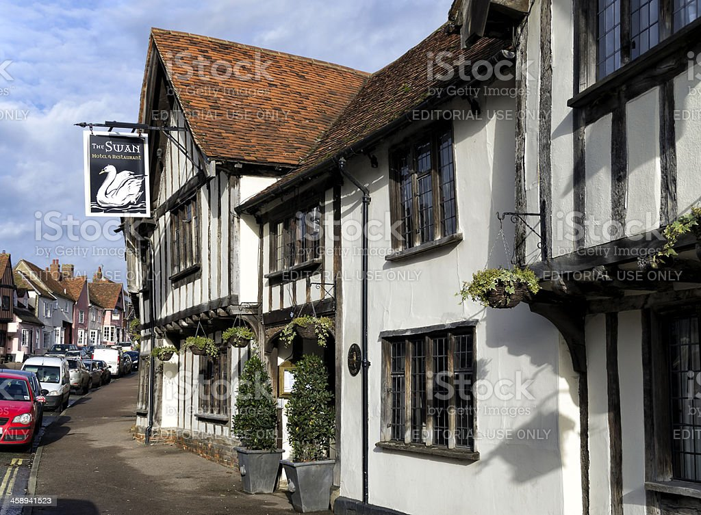 The Swan Hotel, Lavenham royalty-free stock photo