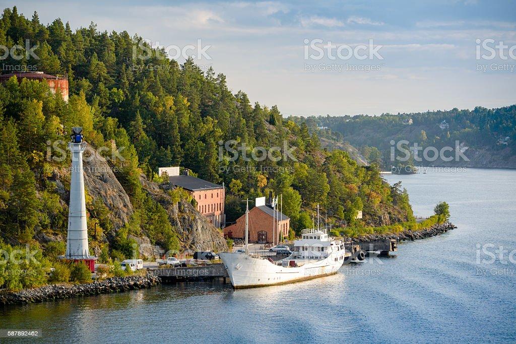 The Swedish Coastline stock photo