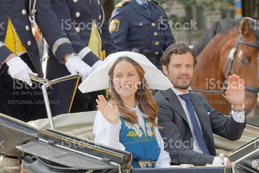 The swedish princess and prince Sofia and Carl Philip Bernadotte stock photo