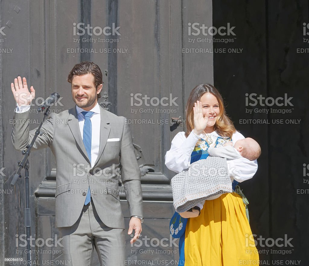 The swedish prins Carl Philip Bernadotte, princess Sofia Hellqvist stock photo