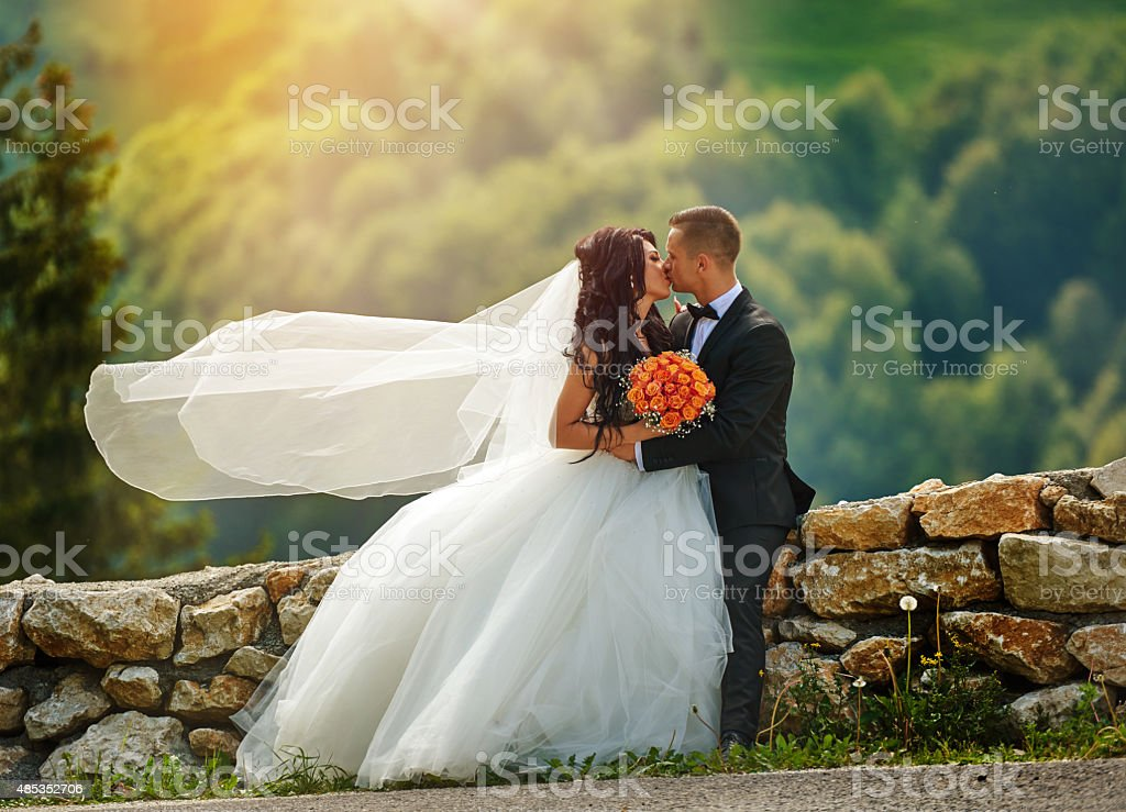 the sweet kiss stock photo