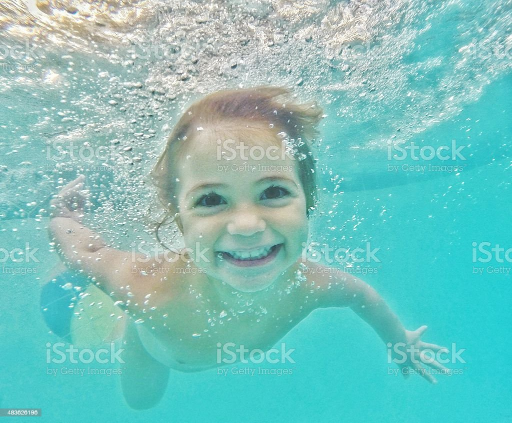 The Swimmer stock photo