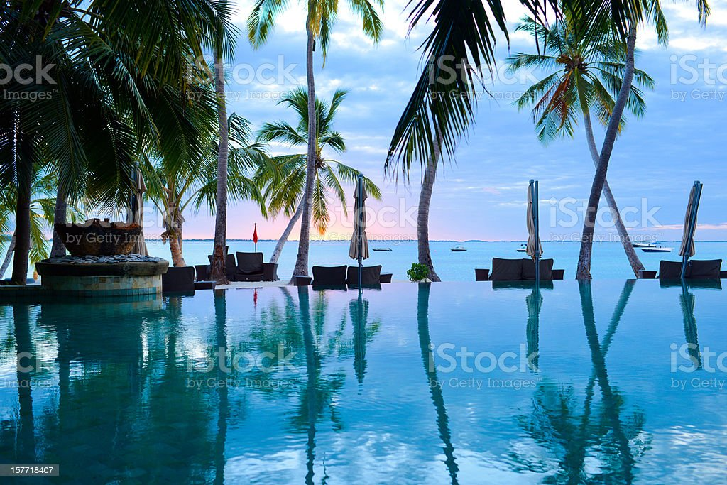 The Swimming Pool of Summer Resort royalty-free stock photo