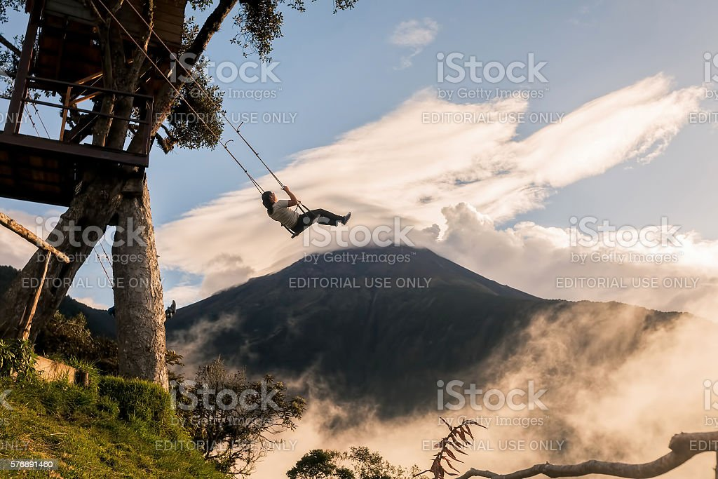The Swing At The End Of The World stock photo