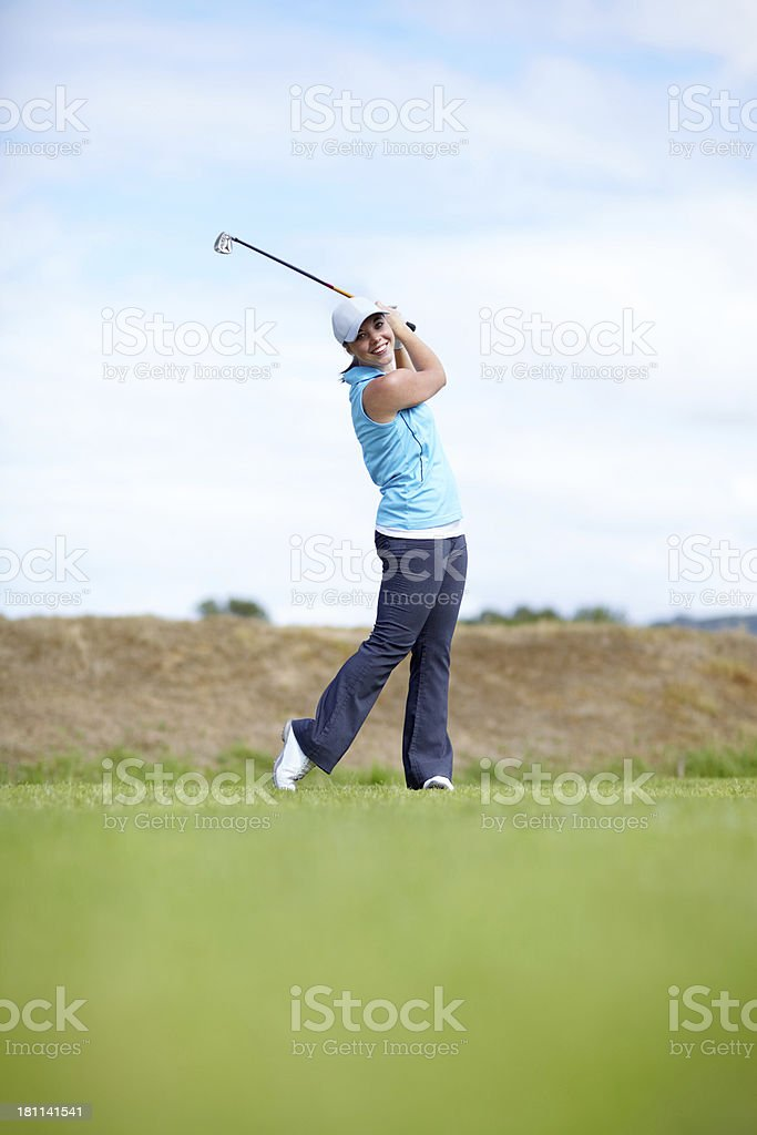 The swing of a professional royalty-free stock photo
