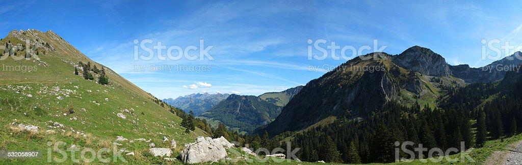 The Swiss Alp and Gruyere stock photo