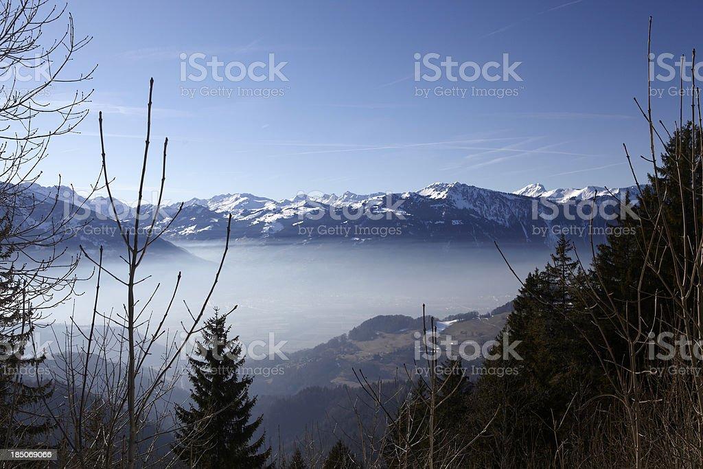 The Swiss Alps stock photo