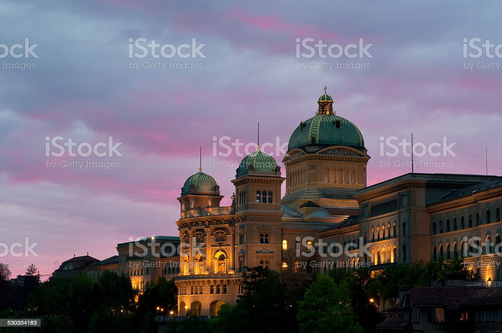 The Swiss parliament stock photo